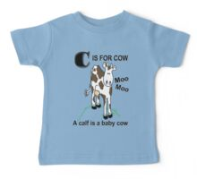 C is for Cow Baby Tee