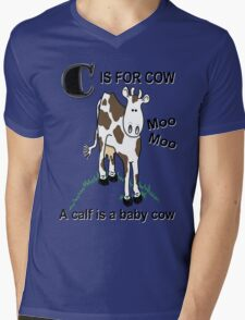 C is for Cow Mens V-Neck T-Shirt
