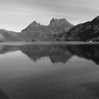 Cradle Mountain   -    panorama    -   Tasmania   -   B&W by lighthousecove