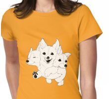 Corgerberus  Womens Fitted T-Shirt
