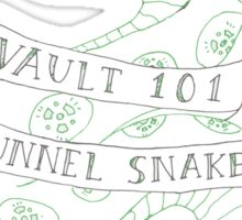 tunnel snakes [back of shirt variant] Sticker