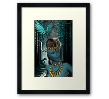 Warrior of the Midnight Forest Framed Print