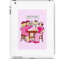 Breast Cancer Supporters Invitation, ladies in pink. iPad Case/Skin