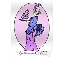 Let them Eat Cake Purple Poster