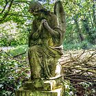 In Prayer - Nunhead Cemetery  by Victoria limerick