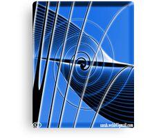 Blue String. Canvas Print