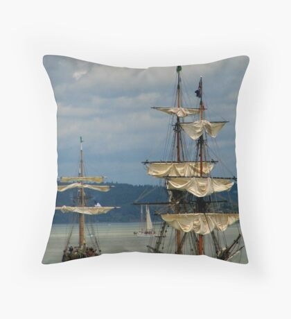 Tall ships festival Throw Pillow