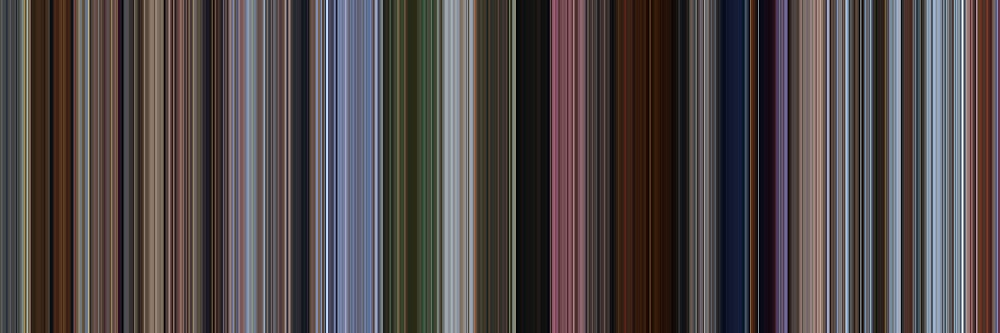 Moviebarcode: Up (2009) [Simplified Colors] by moviebarcode
