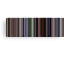Moviebarcode: Up (2009) [Simplified Colors] Canvas Print