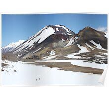 Snowy Volcanoes Poster