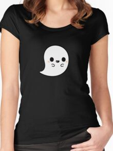 Cute spooky ghost Women's Fitted Scoop T-Shirt