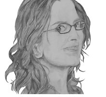 Tina Fey Portrait by PhilippaDMTW
