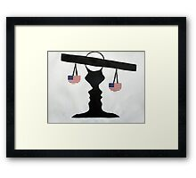 Just, It's an Illusion Framed Print