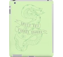 tunnel snakes [back of shirt variant] iPad Case/Skin
