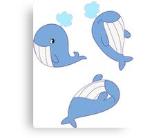 Whales Whales Whales Canvas Print