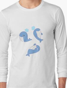 Whales Whales Whales Long Sleeve T-Shirt