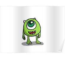 Mike Wazowski - Monsters inc sketch Poster