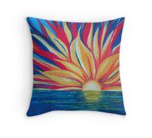 Sunrise starburst Throw Pillow