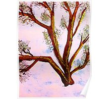 Abstract Tree Branches, watercolor Poster