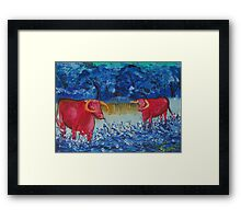 Pink Cows  Framed Print