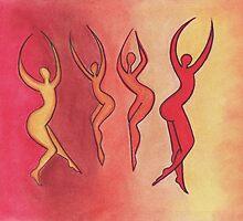 Fire Dancers by Art By Misty