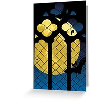 Gothic Window and Moon Greeting Card