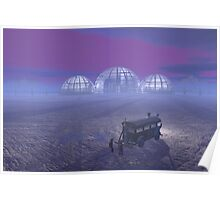 Mineral exploration on an Alien Planet Poster