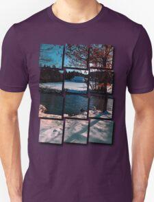 River across winter wonderland | landscape photography T-Shirt