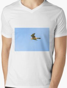 Kestrel hovering, Duncannon, County Wexford, Ireland Mens V-Neck T-Shirt