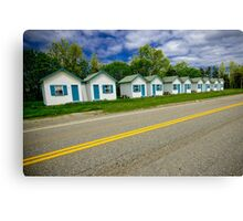 Cabins on the road to Gaspé Canvas Print