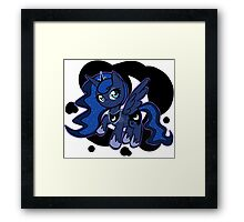 Pony Pins: Luna Framed Print