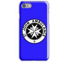 TARDIS St. John's Ambulance Logo (available as leggings!) iPhone Case/Skin