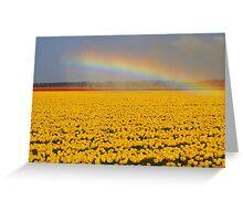 Rainbow & Tulips Greeting Card