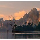 Sunrise in Chieow Laan Lake, Khao Sok Nature park,  Thailand by Birgit Van den Broeck