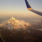 Mt. Hood from above by Charity Thompson