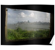 View from Inside Alcatraz Poster