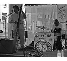 Morning Jazz - We Play for Tips Photographic Print