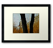 Tree with Wild Grasses Framed Print