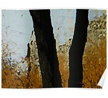 Tree with Wild Grasses Poster