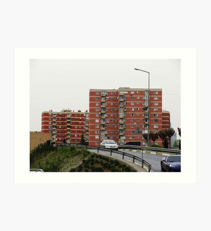 Apartments,Istanbul Art Print