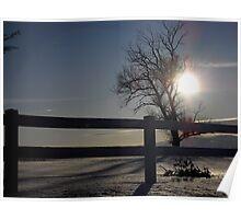 Snow Sunset Poster