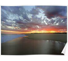 Sunset, Seal Rocks, NSW, Australia Poster
