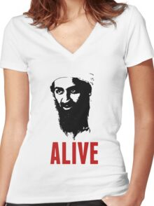 Osama Bin Laden is Alive Shirt Women's Fitted V-Neck T-Shirt
