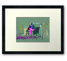 Morning in Her Pink Pajamas Framed Print