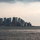 NYC Financial District at Dusk by Chipper