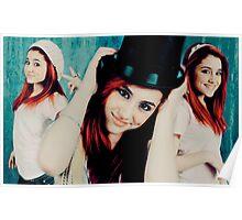 Ariana Grande Black Hat Vintage Poster Poster
