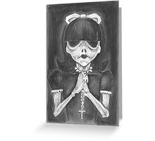 Girl with a Cross Greeting Card