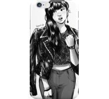 Jacket girl iPhone Case/Skin