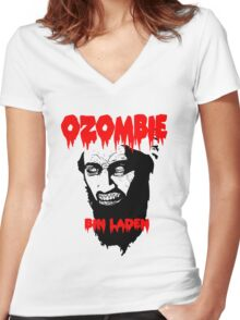 Osama is dead - Osama is undead 2 - Osama Women's Fitted V-Neck T-Shirt