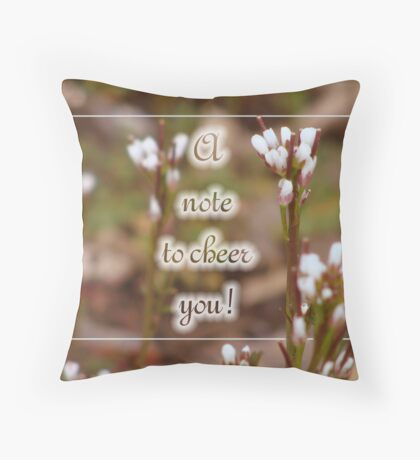 A Note of Cheer (for myraj) Throw Pillow